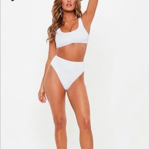 White two piece bathing suit